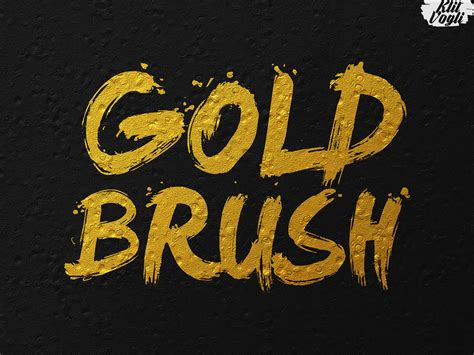 gold pattern font gold text effects by klitvogli graphicriver