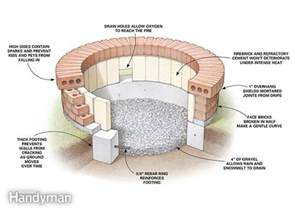 Stone Fire Pit Dimensions - building a fire pit the family handyman