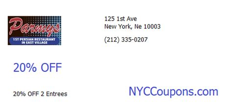 printable restaurant coupons new york nyc coupons printable nyccoupons com parmys restaurant