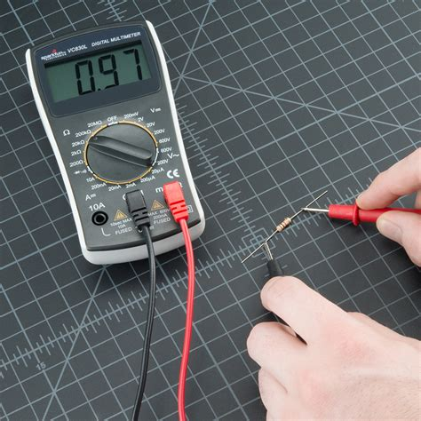 how to measure a resistor how to use a multimeter learn sparkfun