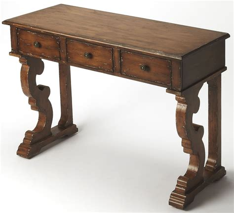 Distressed Console Table Caravaggio Distressed Brown Console Table 9319348 Butler