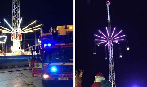 winter wonderland swing terror sky swing winter wonderland cardiff children