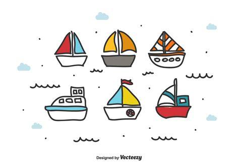 doodle vector doodle boat vector set free vector stock