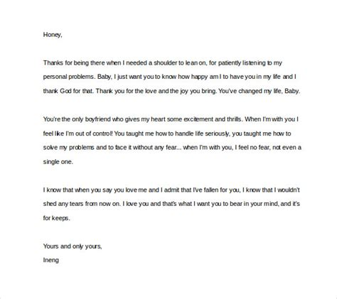 Support Letter To My Boyfriend 10 Letter To Boyfriend Free Sle Exle Format Free Premium Templates