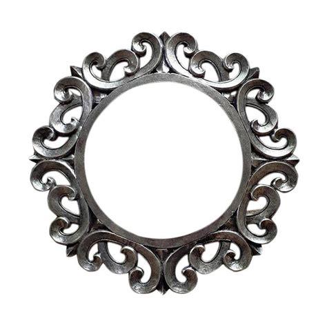 Cermin Kaca Exclusive 30 X 60 Cm jual aditya ukir bingkai kaca cermin bulat silver