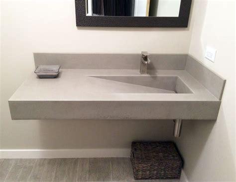 wall hung bathroom sink best 25 concrete sink bathroom ideas on