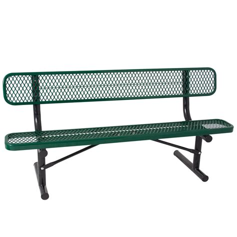 6 foot bench quick ship 6 foot thermoplastic bench portable