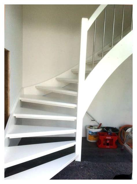 glasgeländer treppe weiss design treppe