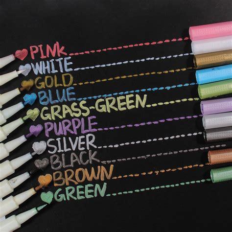 Metallic Marker Pen Set 10 pack assorted metallic paint marker markers set of 10
