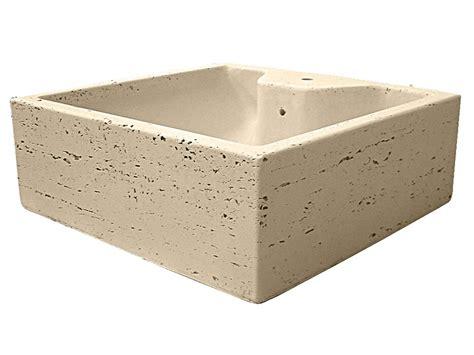 lavabo arredo lavabo d arredo top quadrangola travert iperceramica