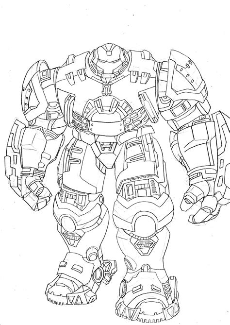 iron man armor coloring pages hulkbuster by cosbane on deviantart
