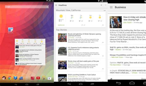 design news app android google updates news weather app with android l like