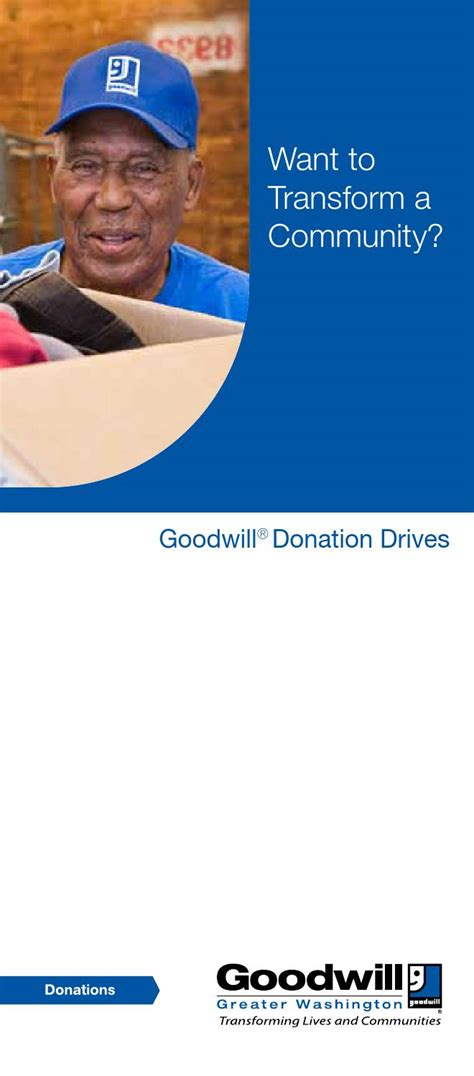 ikea donation drive goodwill of greater washington dc goodwill donation drive brochure by goodwill of greater