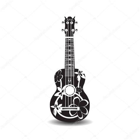 imagenes de guitarras a blanco y negro ilustraci 243 n de vector de guitarra ukelele hawaiano blanco