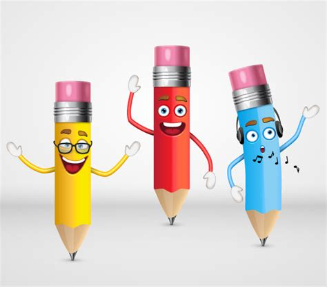 Character Pencil how to create a trio of pencil characters in adobe
