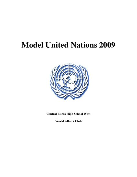 mun model united nations model united nations 2009 packet