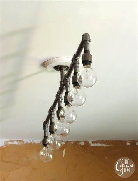 Pipe Chandelier Diy I Made A Plumbing Pipe Light Fixture The Gathered Home