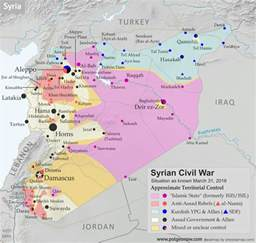 Syria Civil War Map by Syrian Civil War Control Map April 2016 Political