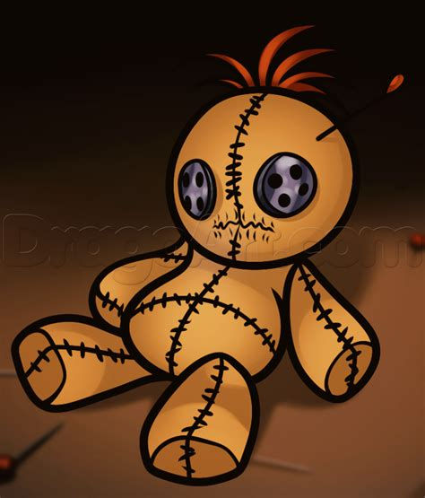 dragoart voodoo doll how to draw a voodoo doll step by step witches monsters