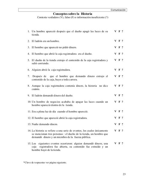 preguntas de cultura general falso o verdadero manual para el facilitador 6 186 de primaria view