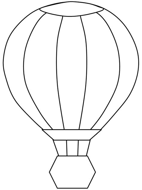 Hot Air Balloon Coloring Template Coloring Pages Air Coloring Pages