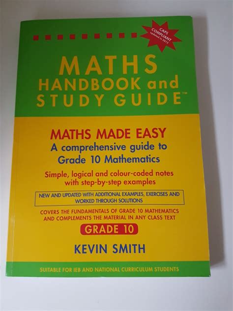 Mathematics New Maths Handbook And Study Guide Grade 10