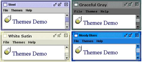swing look and feel themes java look feel themes codeproject