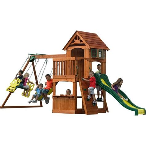 adventure play sets atlantis cedar wooden swing set backyard discovery atlantis wooden swing set academy