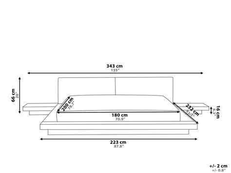 Futon Matratze 180x200 by Designer Wooden Bed Quot Japan Quot 180x200 Cm Walnut Light Brown