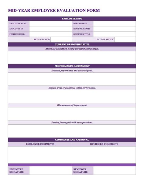 annual employee review template annual employee review format templates resume