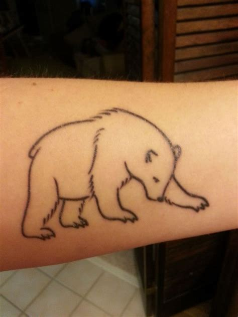 bear outline tattoo 22 outline polar tattoos