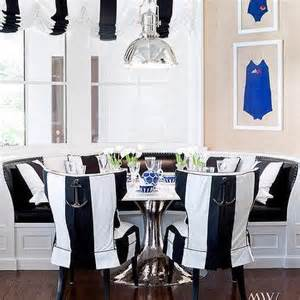 white breakfast nook black director dining chairs contemporary dining room