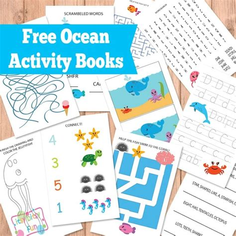 printable books for toddlers ocean activity books itsy bitsy fun