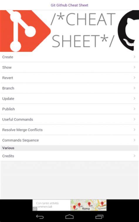 github tutorial cheat sheet git github cheat sheet download apk for android aptoide