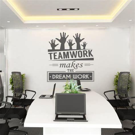 teamwork   dream work teamwork office wall art