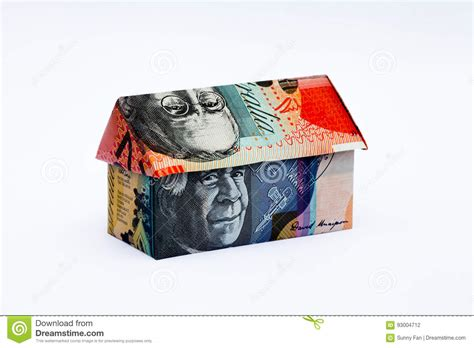 Australian Money Origami - australian origami money house stock photo image 93004712