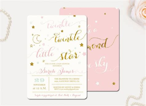 Twinkle Baby Shower Invitations by Twinkle Twinkle Baby Shower Invitations Theruntime