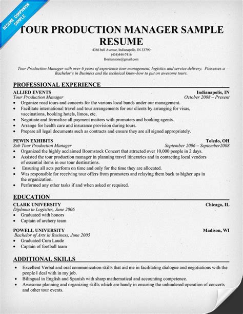 Web Production Manager Sle Resume by Venue Manager Resume Security Guards Companies
