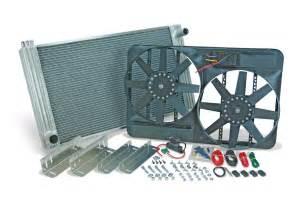 aluminum radiator with electric fan flex a lite aluminum radiator w electric cooling fans