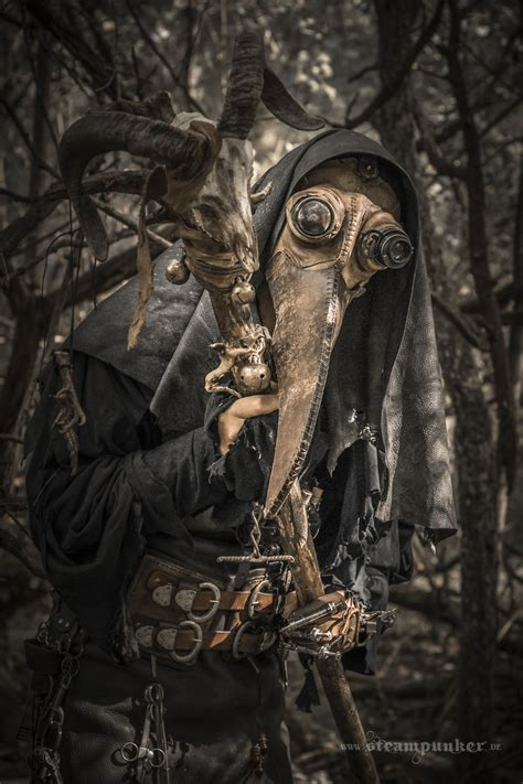 i created a plague doctor costume in steampunk style