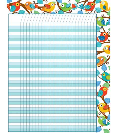 boho birds incentive chart