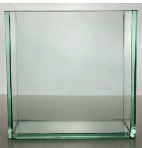 clear glass containers for centerpieces contemporary vases 8 quot square thick glass