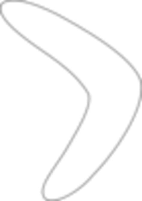 boomerang template printable simple boomerang pattern free images at clker