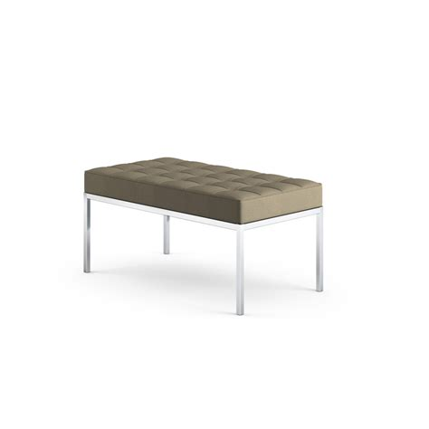 knoll bench knoll florence knoll bench two seat zinc details