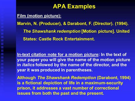 apa format documentary apa in text citations and references ppt video online