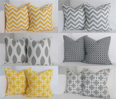 gray yellow pillows ahhhh six yellow and gray pillows decorative