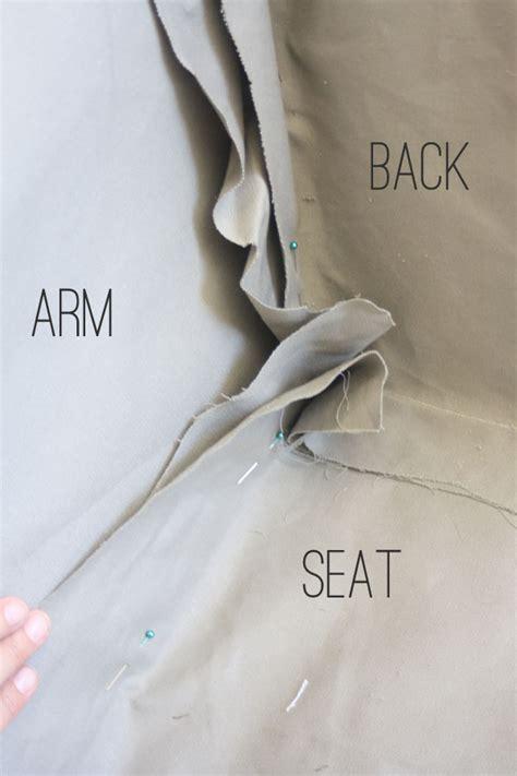 How To Make Slipcovers How To Make Slipcovers Covering A Sofa Frame