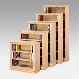 Solid Wood Bookshelves Unfinished A E Solid Oak Britania Unfinished Wood Bookcase