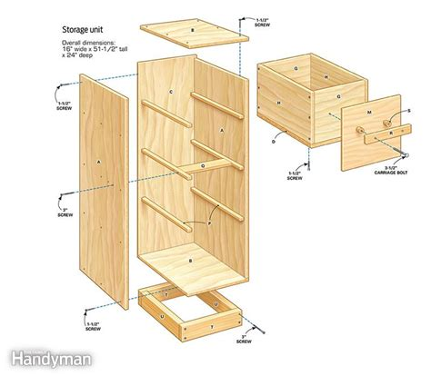 Wine Crate Desk Diy Garage Storage Super Sturdy Drawers The Family Handyman