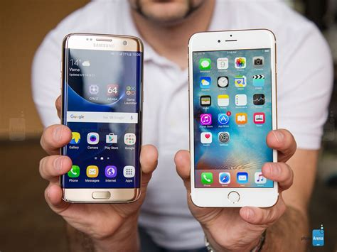 samsung galaxy s7 edge vs apple iphone 6s plus electronics technology samsung